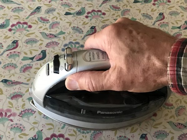 iron it dry