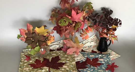 Autumn Leaf Placemats Tutorial