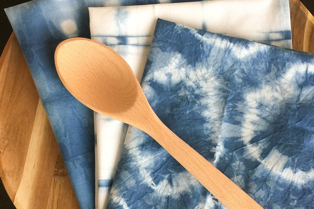 How To Make Shibori Indigo Dyed Tea Towels Weallsew
