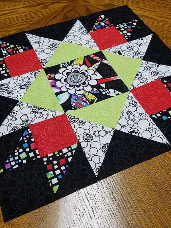 Union square framed quilt block