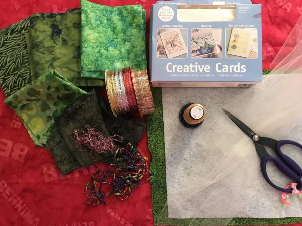 Stitched Collage Cards - Materials
