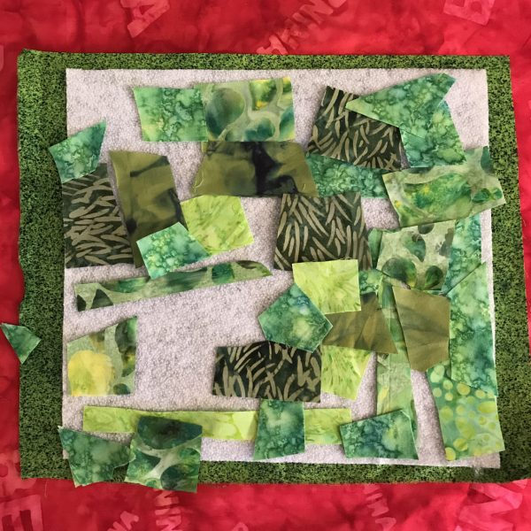 Stitched Collage Cards - Layering
