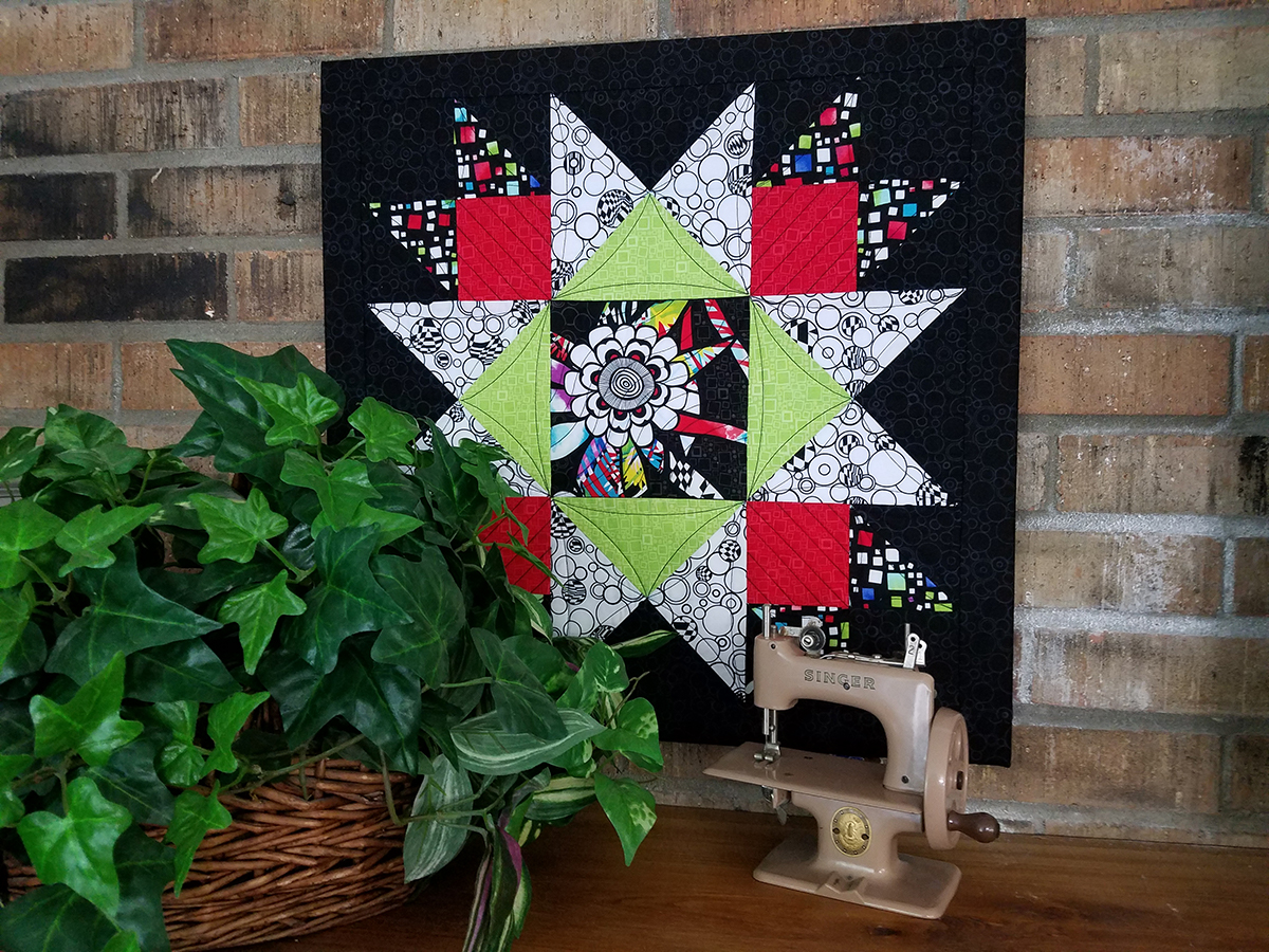 Union squared framed quilt block
