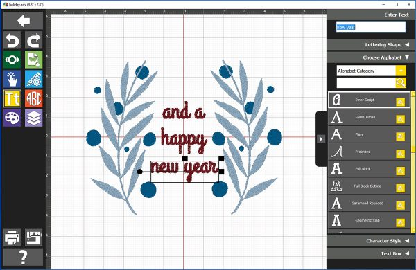Holiday Banner Tutorial Deck The Halls - lettering