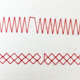 Example of skipping stitches