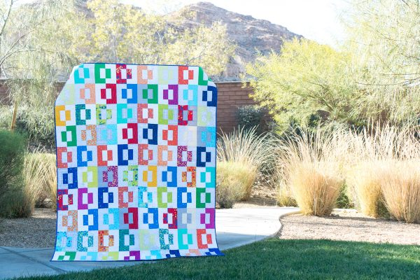 Modern Puzzle Free Quilt Pattern by Christa Watson