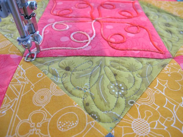 quilting the rest of the block