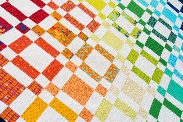 Rainbow Taffy Quilting Detail, quilting on the B770 QE