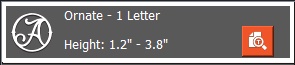 One letter monogram