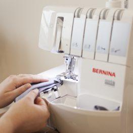 sewing knits on a BERNINA serger