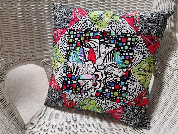 Girl's Favorite Quilt Block, Pillow Cover with Zipper