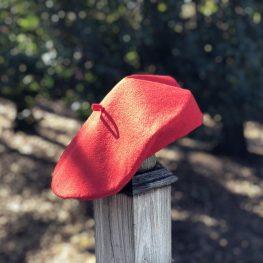 How to sew a wool felt beret tutorial