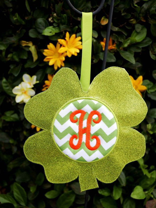 BONUS - What else can you do with the Shamrock Door Hanger In the Hoop: garden decoration