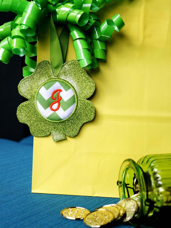 BONUS - What else can you do with the Shamrock Door Hanger In the Hoop: gift tag