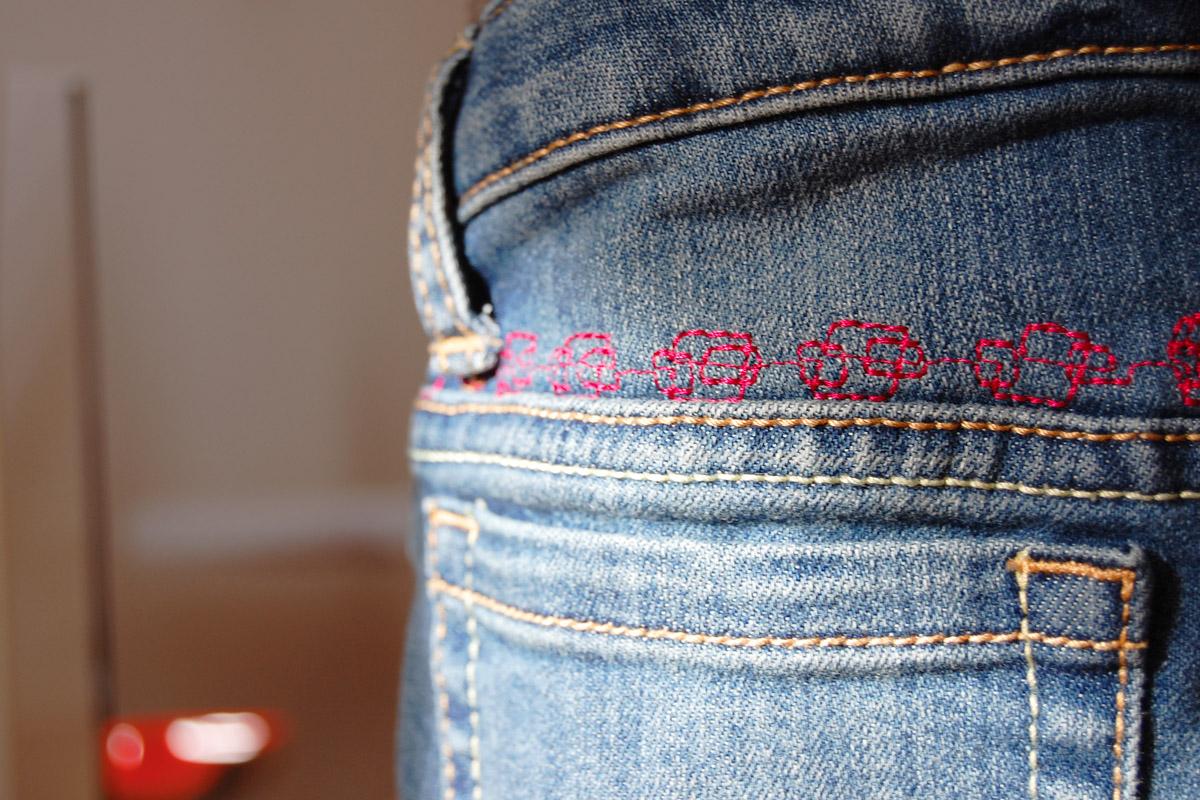 Adding Decorative Stitches to Jeans | WeAllSew