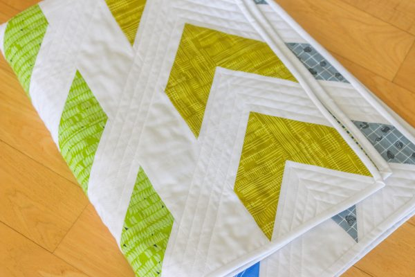 Arrow Baby Quilt by Lee Heinrich of Freshly Pieced
