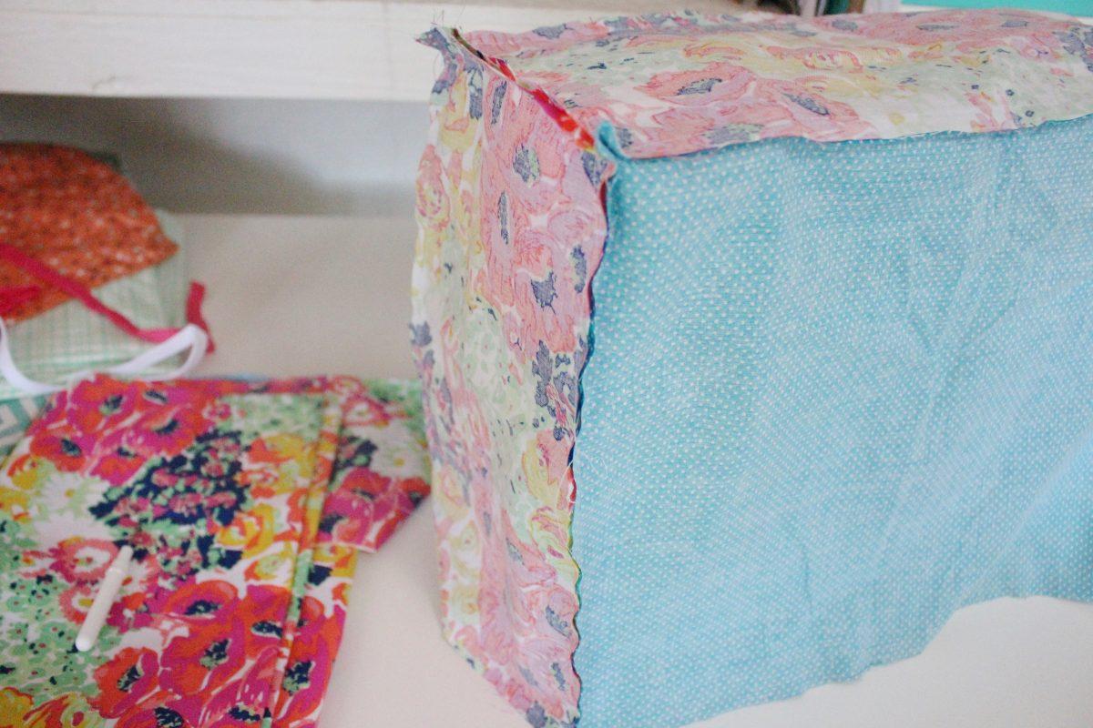 DIY reversible sewing machine cover