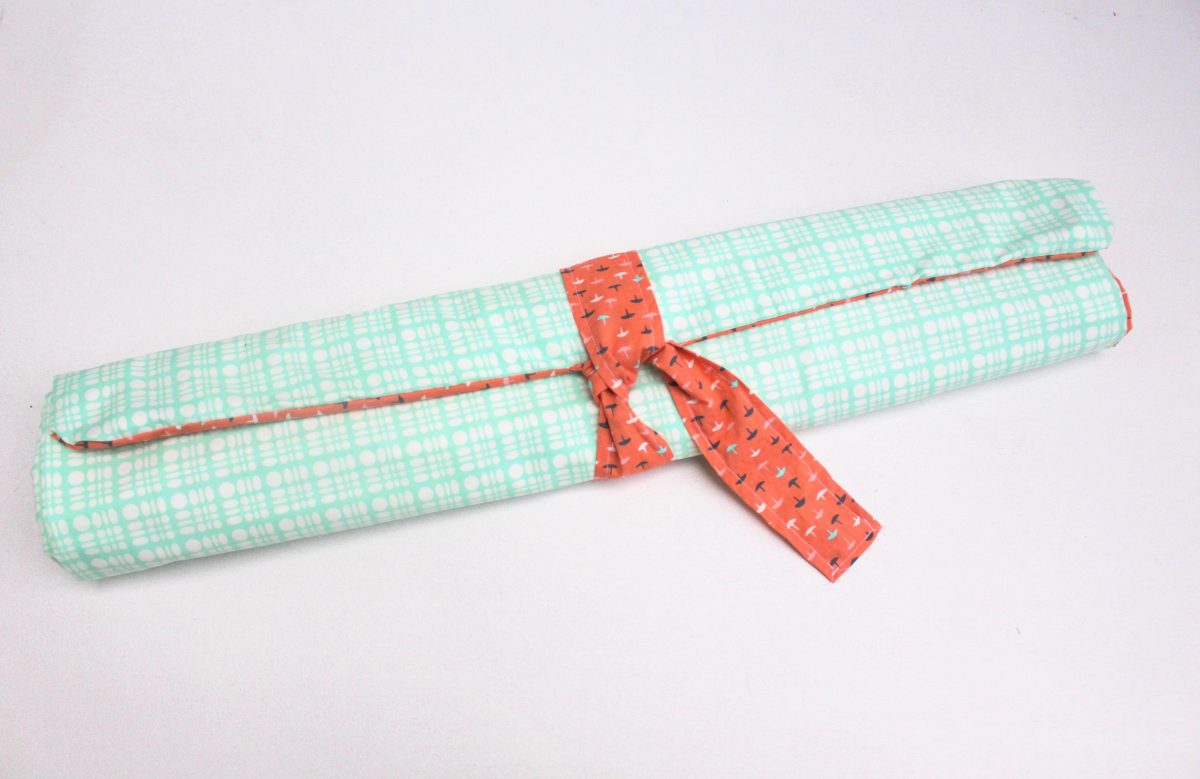 DIY reversible roll up baby changing pad