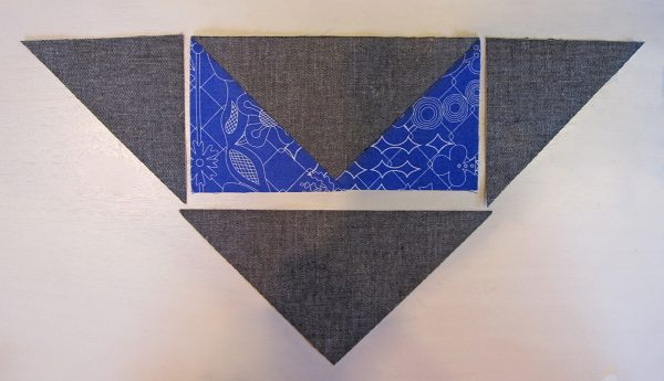 forming a larger pieced triangle