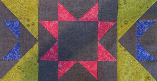 Stitch the 2 remaining pieced rectangular units