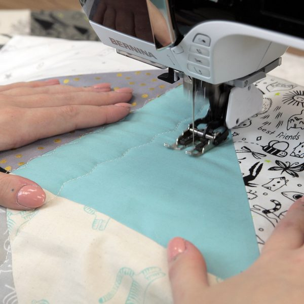 Quilting with the Walking foot - additional rows