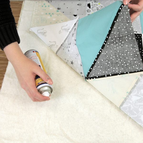 Quilting with the Walking foot - baste top