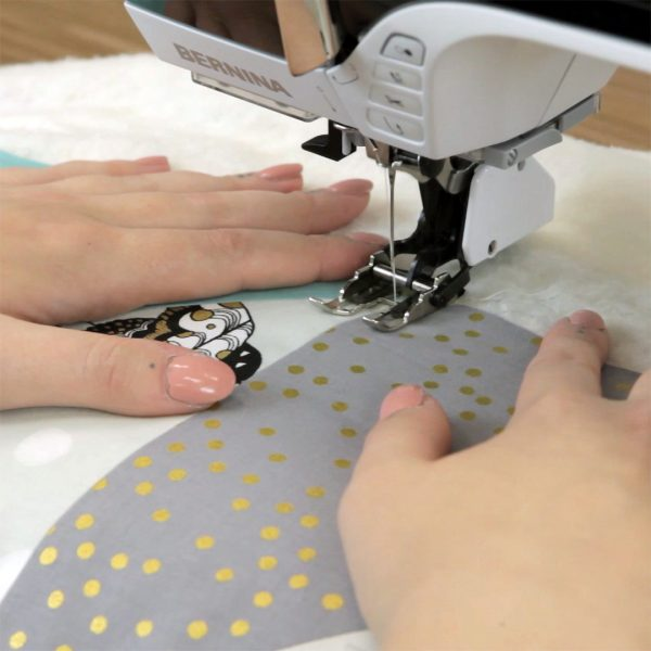 Quilting with the Walking foot - start sewing