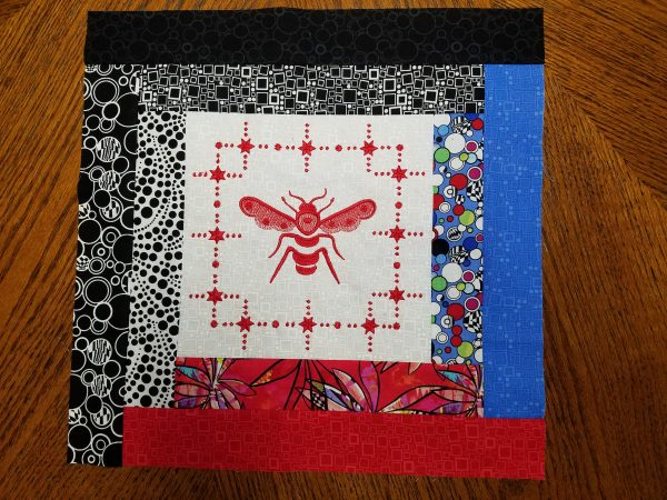 Quilted Tray - embroidered quilt block