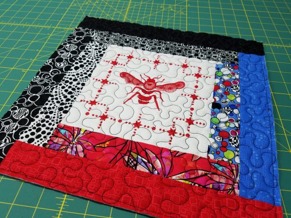 Quilted Tray - square up the block