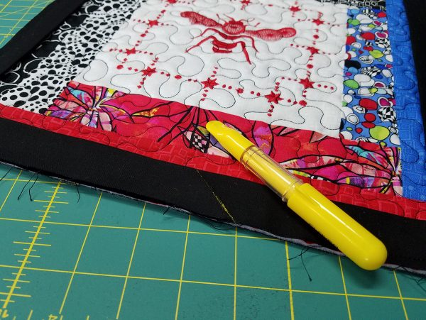 Quilted Tray - binding