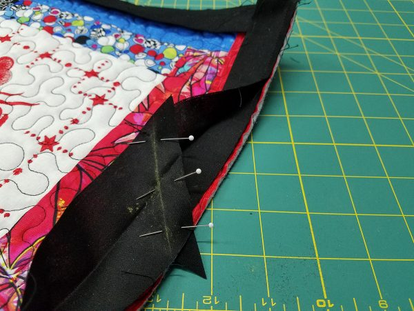 Quilted Tray - pinning