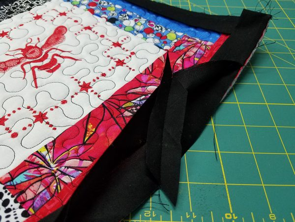 Quilted Tray - press seam open