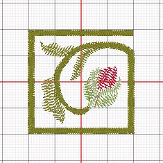 Greek Key Floral Border - design 82021-39