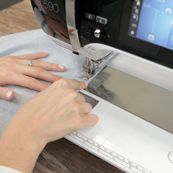 Luxe Linens - sewing a french seam step two