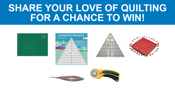 Share your love of quilting for a chance to win