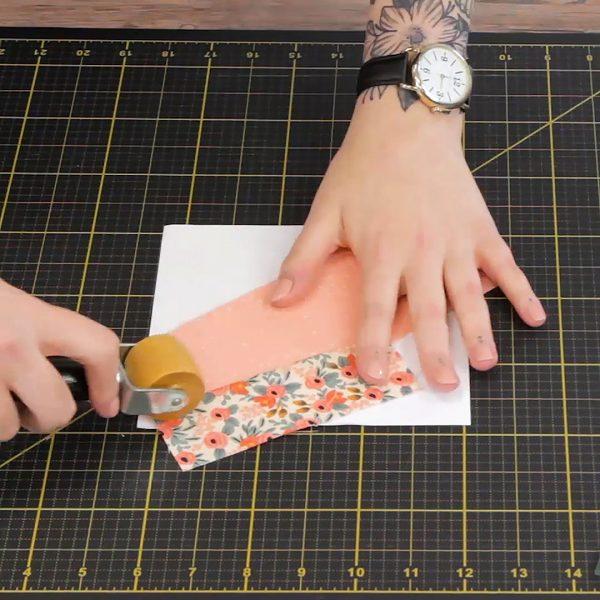 Beginner Paper Piecing, press seam allowance