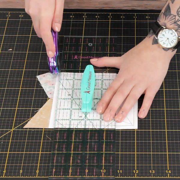 Beginner Paper Piecing, trim block