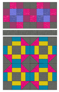 quilt block 1 and 8
