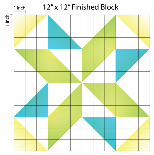 How to Supersize Quilt Blocks : Pinwheel Graph Paper