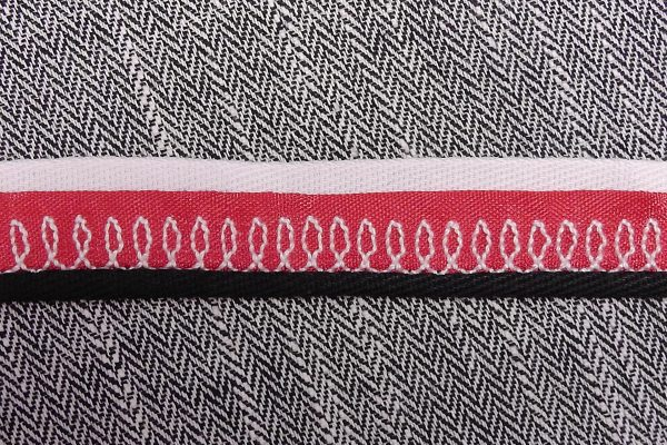 Stacked Trim Tutorial Step 8: turn under widest trim to create piped look.
