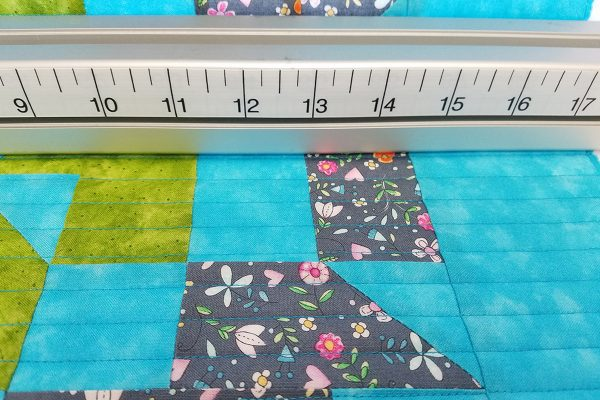 Straight Line Quilting with Q-matic, dead bar