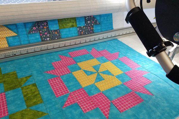 Straight Line Quilting with Q-matic, prepare for finishing