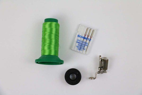 Step 2, Setup machine for Embroidery