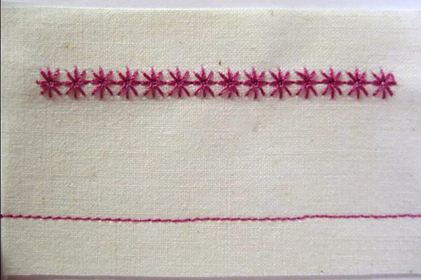 BERNINA sample stitch card
