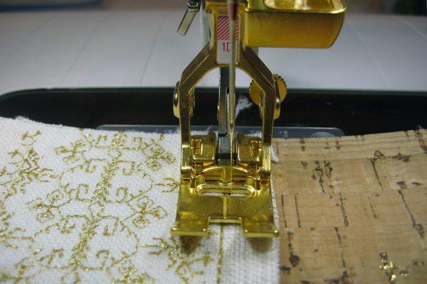 golden BERNINA presser foot #1D