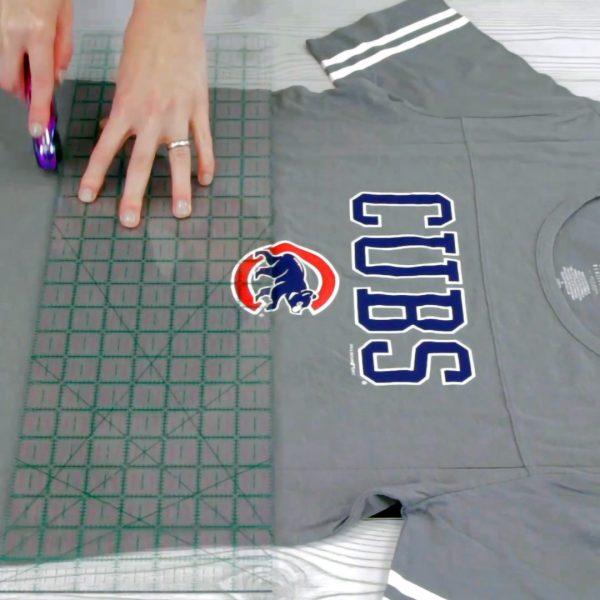 T-Shirt Quilt - cut shirt