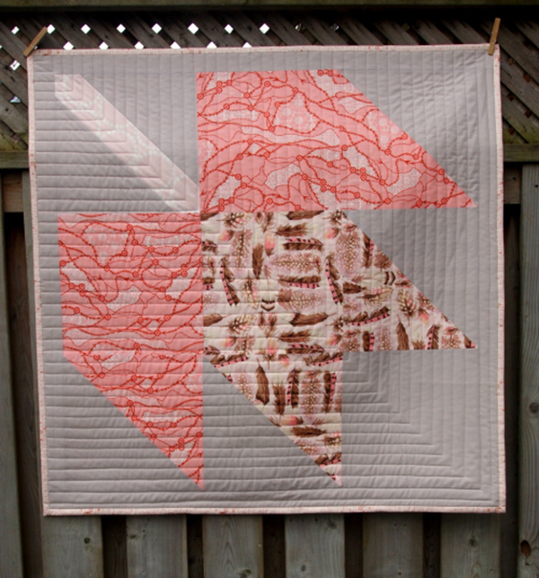 How to Supersize Quilt Blocks : Falling Maple
