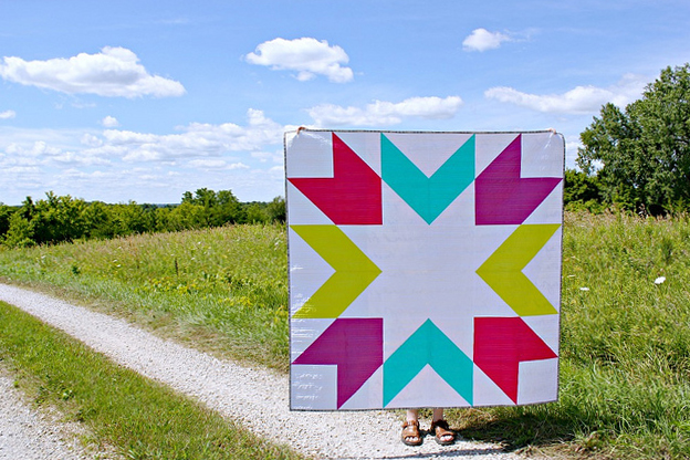How to Supersize Quilt Blocks : Giant Starburst