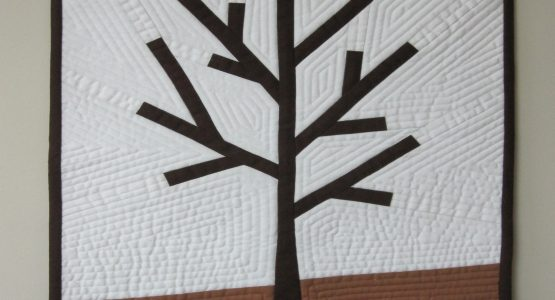 'Winter Tree' entered in a modern quilt challenge at my local club