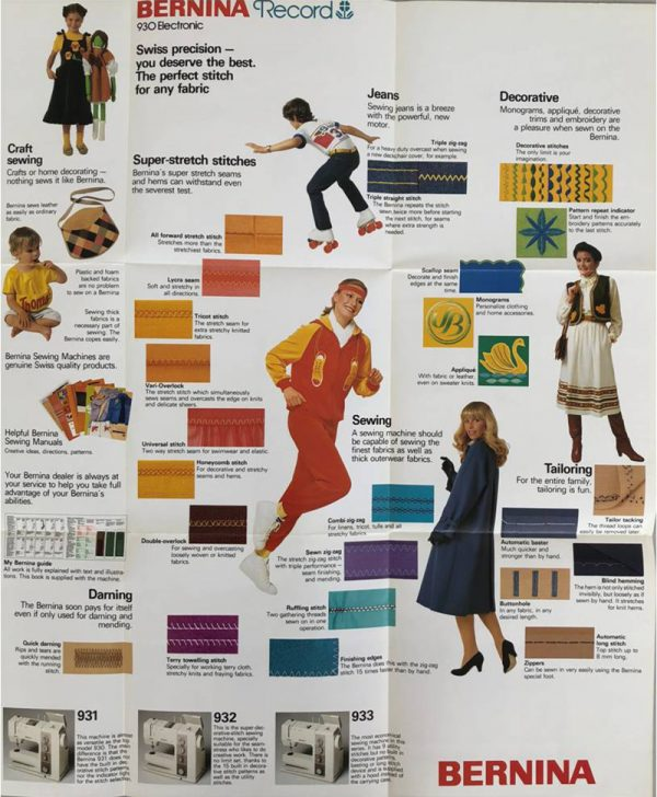 BERNINA Record 930 catalogue